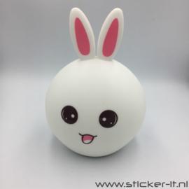 3D meisjes konijn nachtlampje