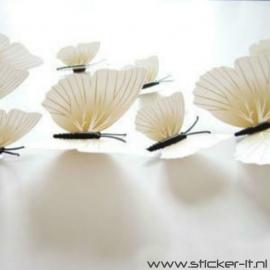 3D vlinders luxe wit