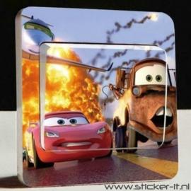 Lichtschakelaar sticker Cars 7