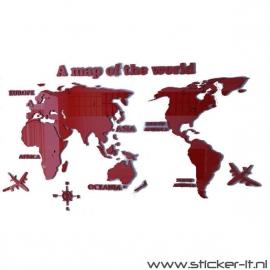 Wereldkaart 3D - div. kleuren/afmetingen