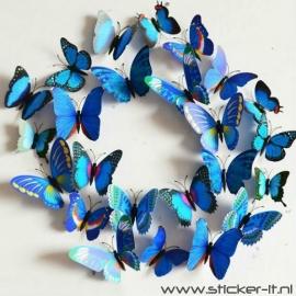 3D vlinders luxe blauw