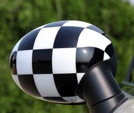 AW004 Set autowrap folie spiegel zwart-witte blokken