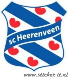 AV010 Auto Voetbal sticker SC Heerenveen