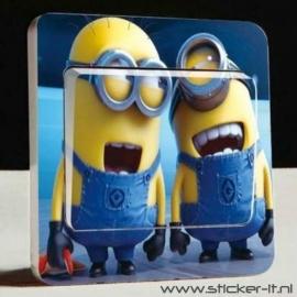 Lichtschakelaar sticker Minions 3
