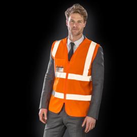 Hi-Vis Zip I.D Safety Tabard