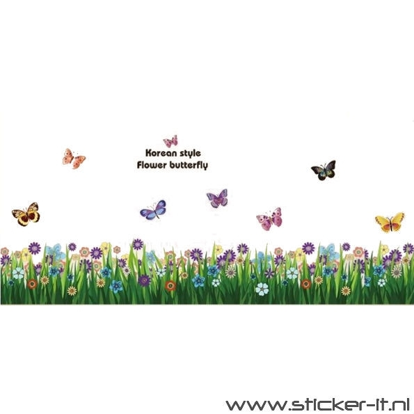 BD018 Bloemenring + vlinders