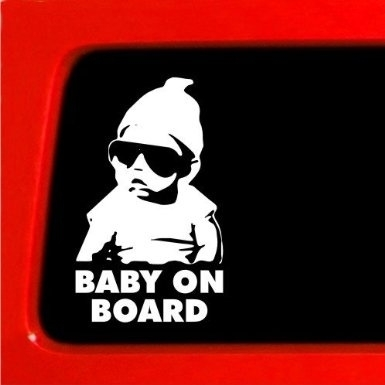 AB001 Autosticker baby on board 1