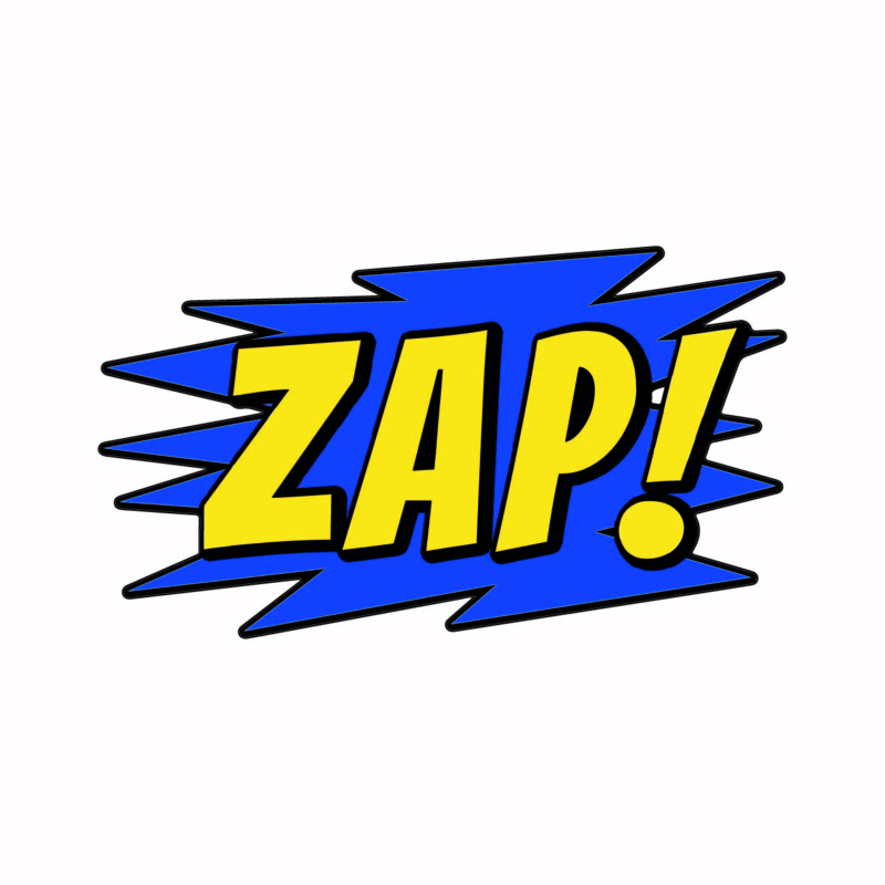SH005 Superhelden tekst ZAP!
