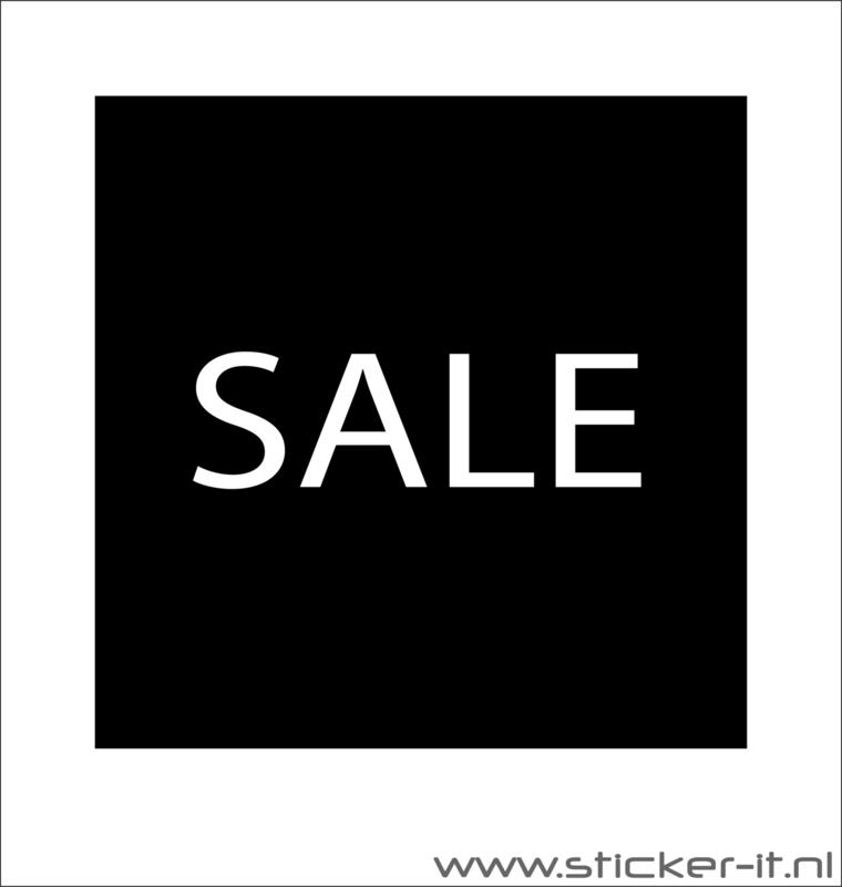 Sales etalagesticker vierkant