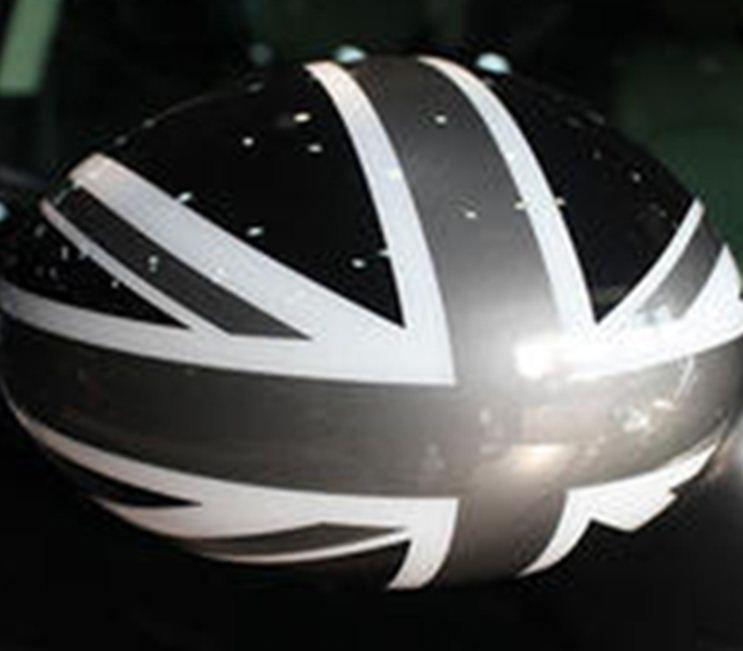 AW003 Set autowrap folie spiegel Engelse vlag 3