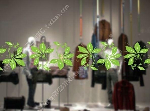 ES012 Etalagesticker raamband bloem 1