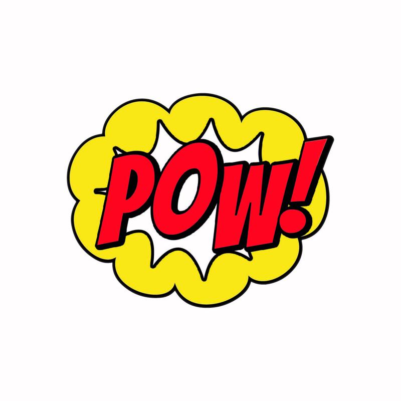 SH004 Superhelden tekst POW!