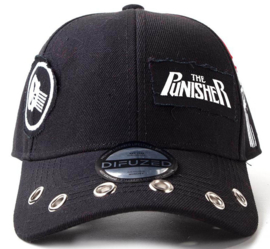 The Punisher Grunge Cap With Patches