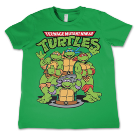 TMNT T-shirt Group Kids (groen)