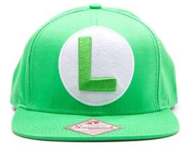 Nintendo Luigi Logo Snapback Cap
