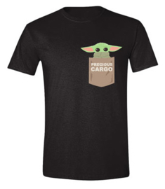 Star Wars T-shirt The Mandalorian The Child Pocket (zwart)