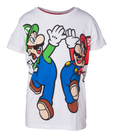 Super Mario T-shirt  Mario & Luigi Kids (wit)