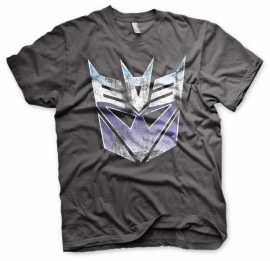 Transformers T-shirt Decepticons Logo Distressed Heren (grijs)