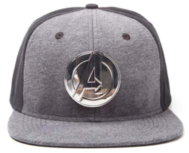 Marvel Avengers Metal Logo Snap Back Cap
