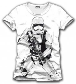 Star Wars T-shirt Episode VII Stormtrooper First Order Heren (Wit)