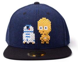 Star Wars C-3PO & R2-D2 Pixel Snapback Cap