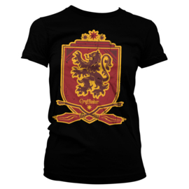 Harry Potter T-shirt Gryffindor 07 Dames (zwart)