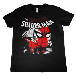 Spiderman T-shirt Close Up Kids (zwart)