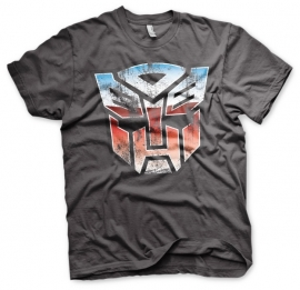 Transformers T-shirt Autobots logo Distressed Heren (grijs)