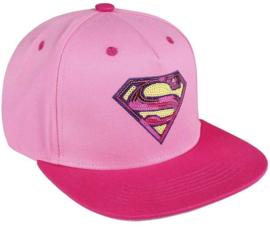 DC Comics Superman Logo Pink Snapback Cap