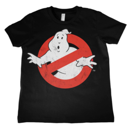 Ghostbusters T-shirt Logo Distressed Kids (zwart)
