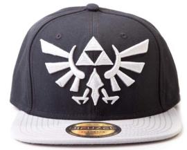 Nintendo Zelda Grey Logo Snapback Cap