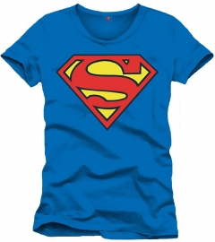 Superman T-shirt Logo Heren (blauw)
