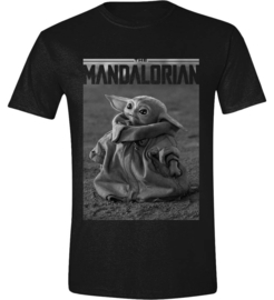Star Wars T-shirt The Mandalorian The Child (zwart)