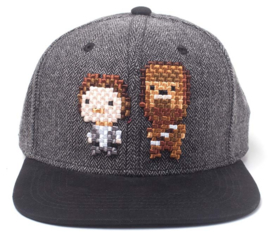 Star Wars Han Solo & Chewbacca Pixel Snapback Cap
