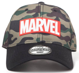 Marvel Camouflage Logo Adjustable Cap
