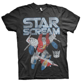 Transformers T-shirt Star Scream Distressed Heren (zwart)