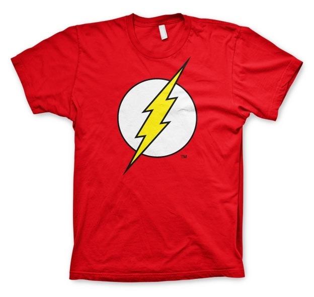 The Flash T-shirt Logo Heren (rood)