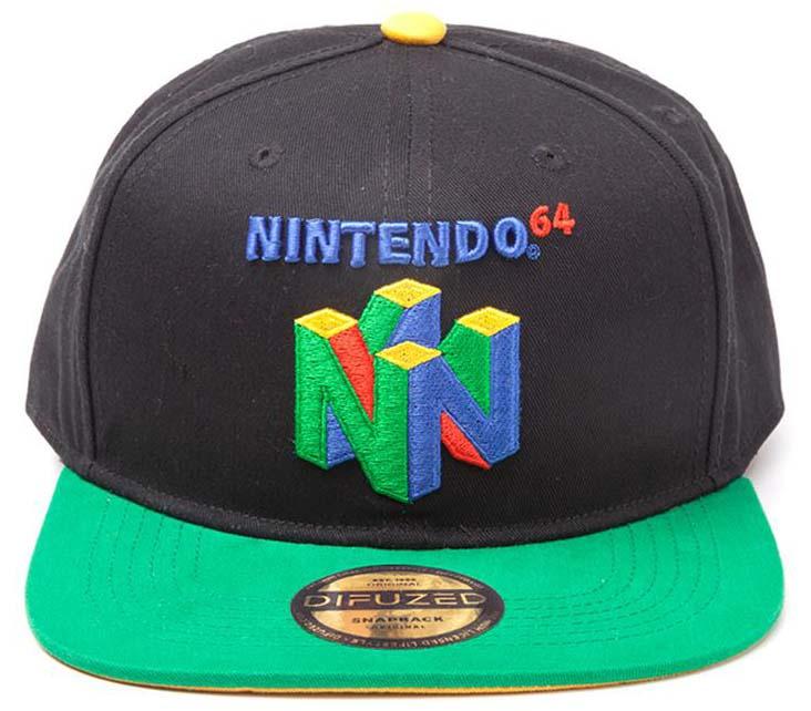 Nintendo N64 Logo Snapback Cap