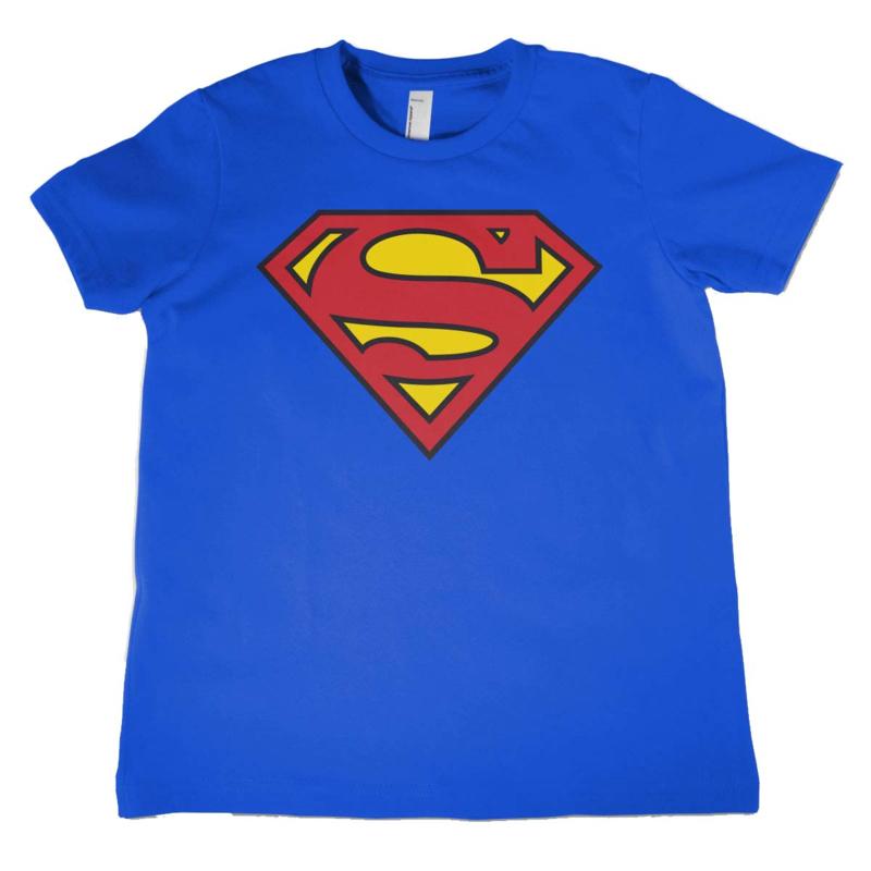 Superman T-shirt Logo Kids (blauw)