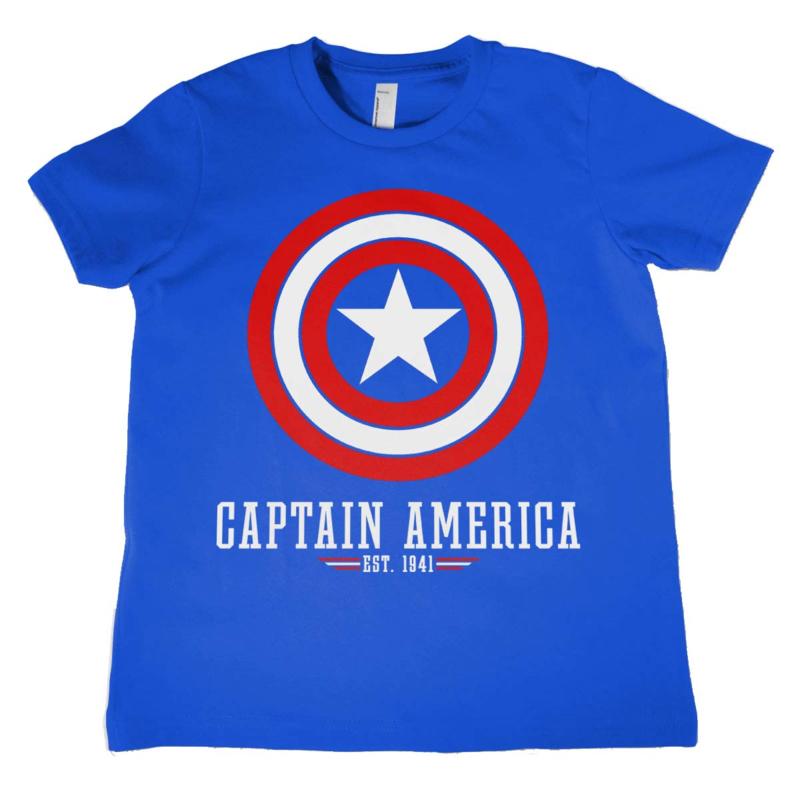Captain America T-shirt Logo Kids (blauw)