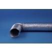 Flexibele aluminium afvoerslang Ø 127mm incl. klembanden, lengte 3 meter