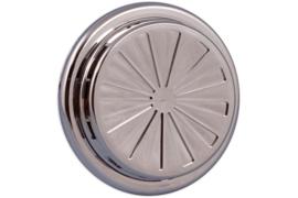 Verstelbaar ventilatierooster Ø 100-150mm, chroom
