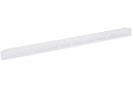 Plintrooster 500x30mm, F1 aluminium geanodiseerd