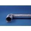 Flexibele aluminium afvoerslang Ø 127mm incl. klembanden, lengte 1,5 meter