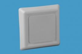 Vierkant afzuigventiel 4 standen Ø 125mm, wit