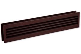 Deurventilatierooster 455x90mm, bruin
