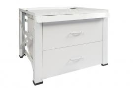 Wasmachine/droger verhoger met 2 lades hout ( extra hoog )
