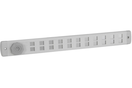 Schuifrooster 370x40mm Bold aluminium
