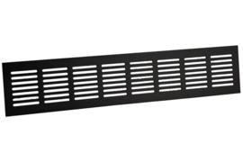 Plintrooster 400x80mm, zwart