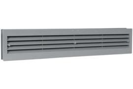 Deurventilatierooster 455x90mm, grijs